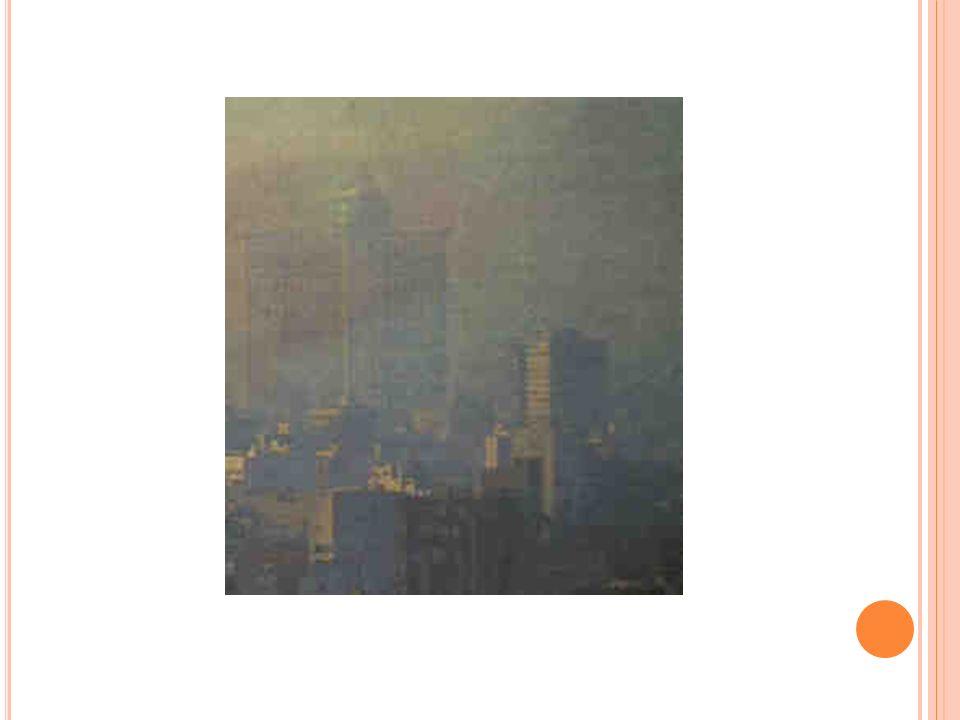 1.- PARTÍCULAS EN SUSPENSIÓN (PM10) Contaminantes mas visibles, especialmente como calima o humo. Se incluyen materiales sólidos y líquidos de tamaño