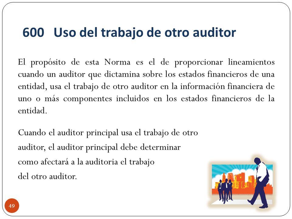 El propósito de esta Norma es el de proporcionar lineamientos cuando un auditor que dictamina sobre los estados financieros de una entidad, usa el tra