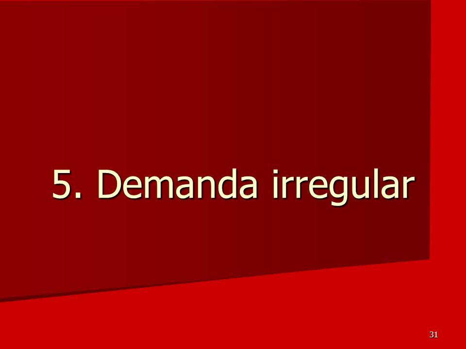 31 5. Demanda irregular