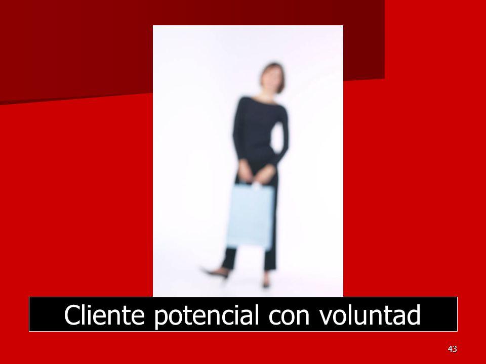 43 Cliente potencial con voluntad