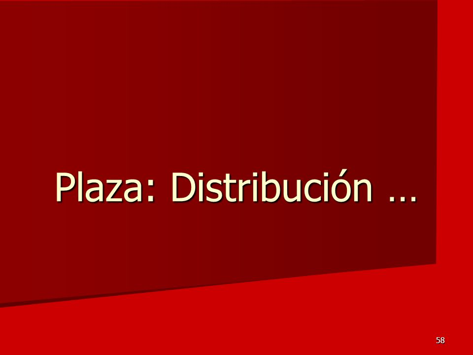 58 Plaza: Distribución …