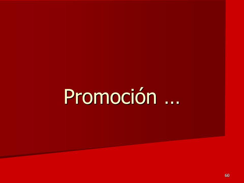 60 Promoción …