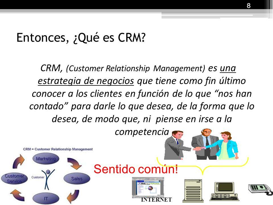 Entonces, ¿Qué es CRM.