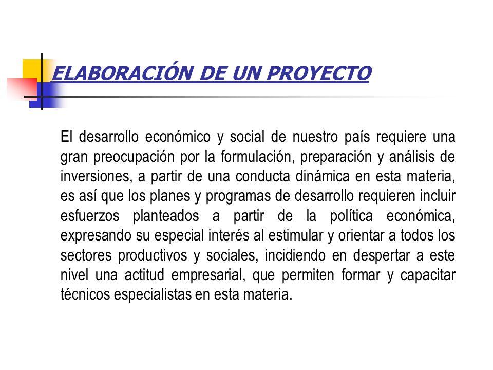NATURALEZA DE LOS PROYECTOS La realizaci ó n de un proyecto significa introducir en la econom í a de un pa í s un elemento din á mico que genere repercusiones en todo el sistema.