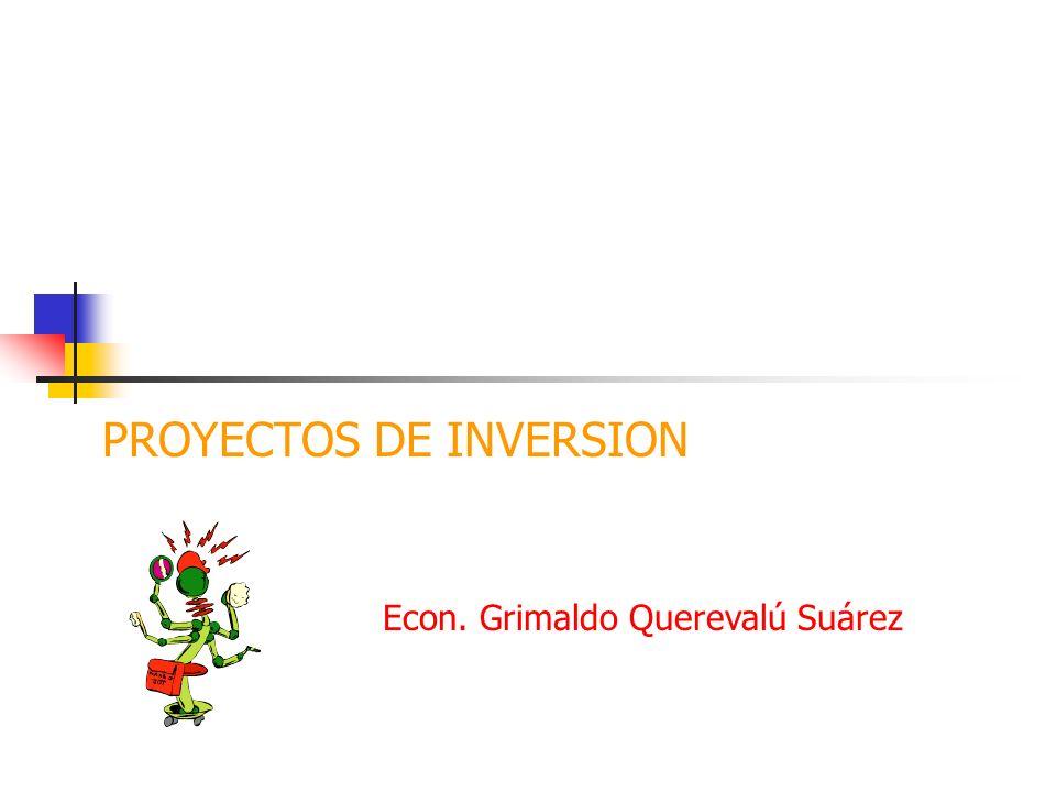 MARCO LOGICO DE PROYECTOS DE INVERSIÓN