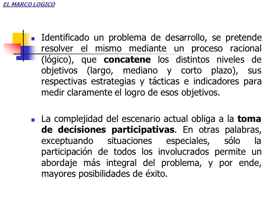 1.Relación Diagnóstico – Problema.2.Relación Problema – Proyecto.