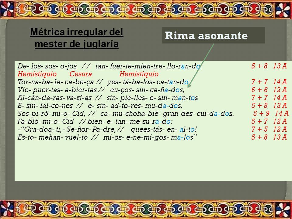Cuatro versos alejandrinos Una misma rima consonante Cada verso está formado por dos mitades o hemistiquios