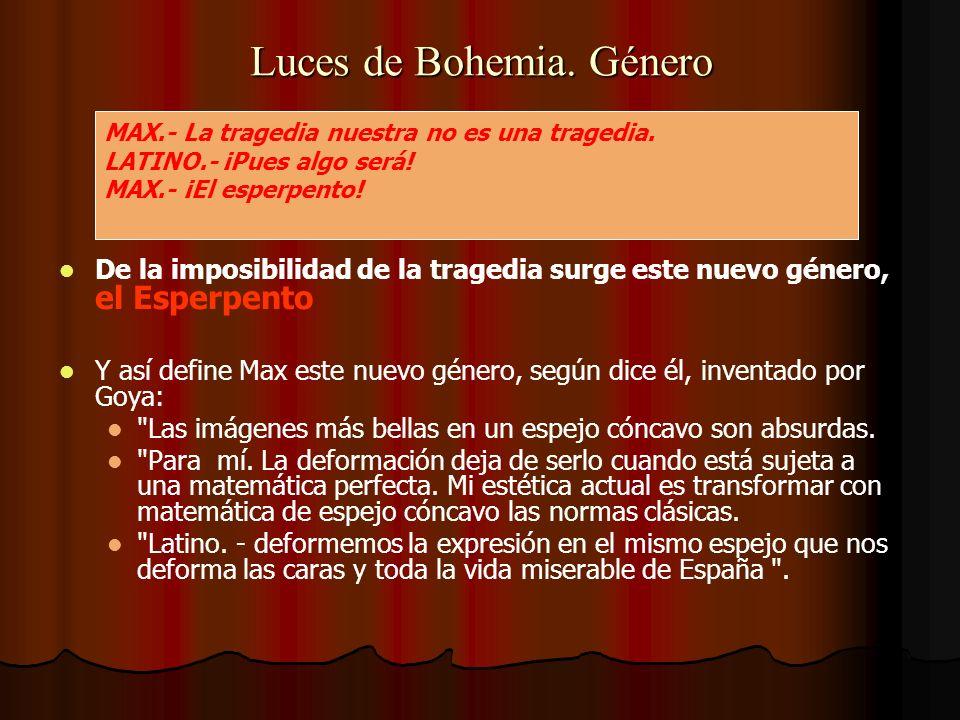Luces de Bohemia de Madrid.