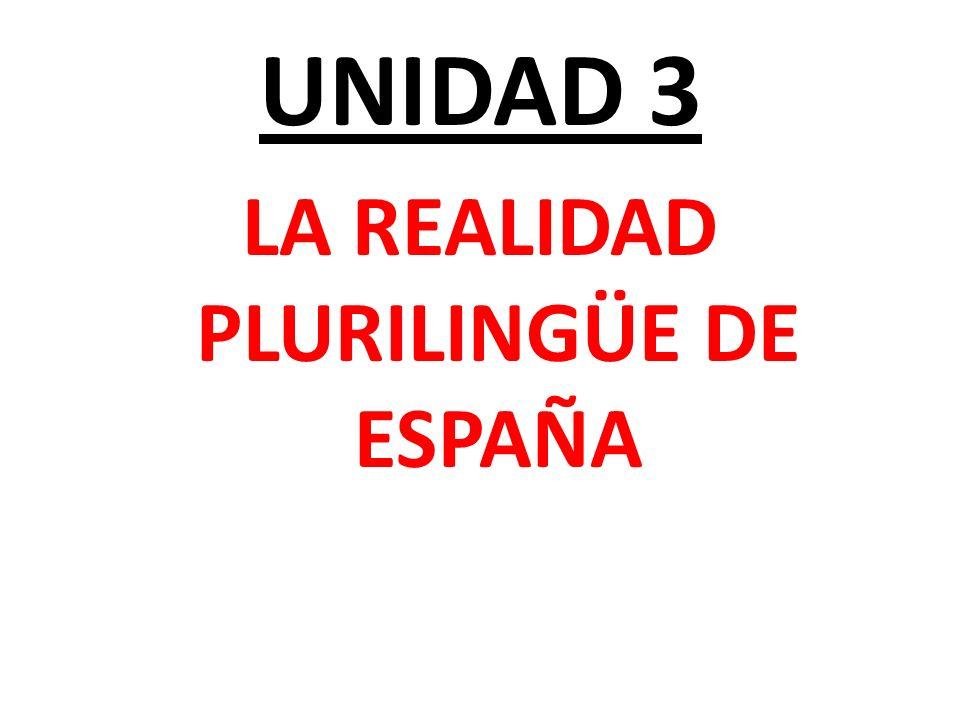 UNIDAD 3 LA REALIDAD PLURILINGÜE DE ESPAÑA