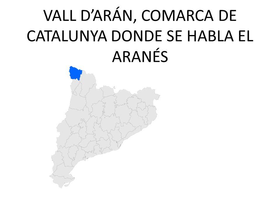 VALL DARÁN, COMARCA DE CATALUNYA DONDE SE HABLA EL ARANÉS