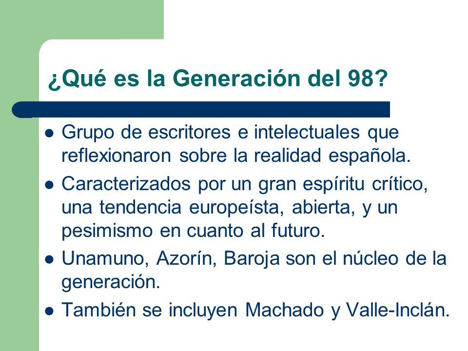 ¿Qué es la Generación del 98.