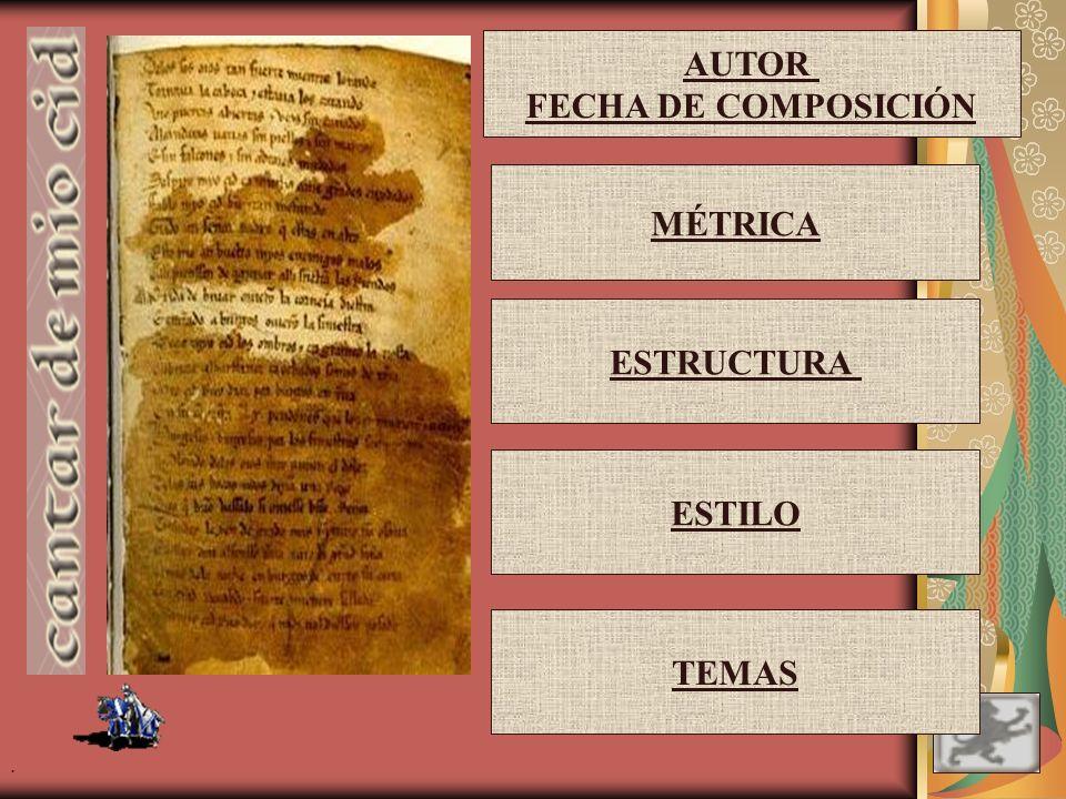 . ¿EXISTIÓ EL CID? (1043-1099 aprox.) ¿ES EL CANTAR DE MIO CID UN ESCRITO HISTÓRICO? Es una obra más de arte y de ficción que de autenticidad históric