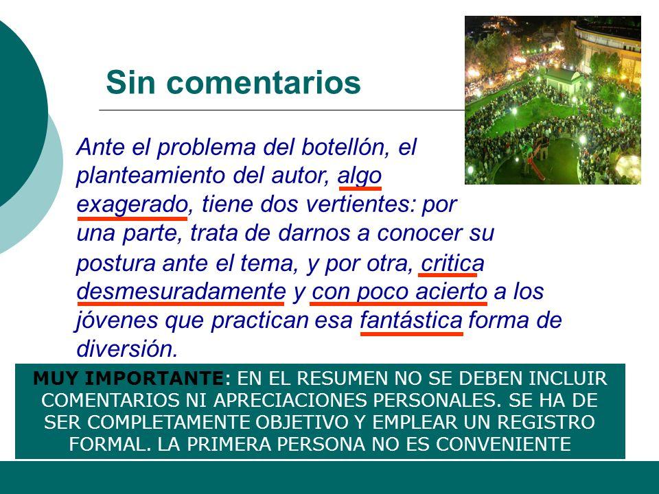 Alfonso Sancho Rodríguez 10 El resumen no es un extracto literal Extracto Resumen El mismo léxico, sintaxis y expresiones que el texto original No emp