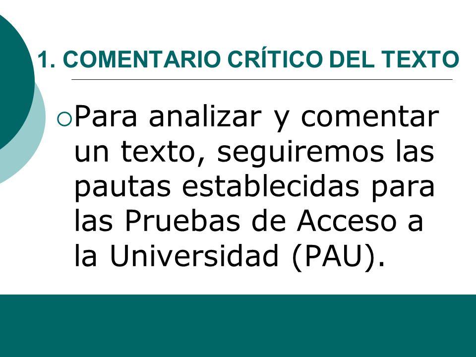 Alfonso Sancho Rodríguez INTRODUCCIÓN AL COMENTARIO CRÍTICO DE LA PAU 1 UNIDAD 9