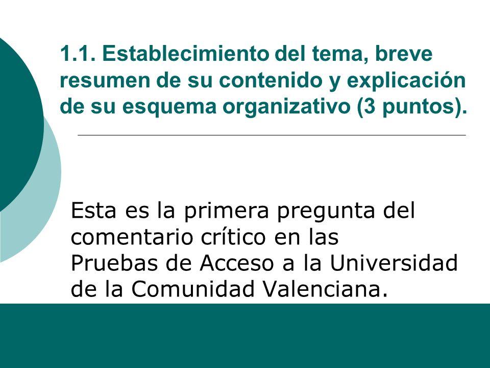 Alfonso Sancho Rodríguez 1. COMENTARIO CRÍTICO DEL TEXTO Para analizar y comentar un texto, seguiremos las pautas establecidas para las Pruebas de Acc