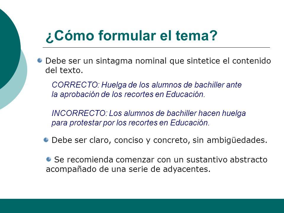 Alfonso Sancho Rodríguez 6 Tema / resumen Idea central + intencionalidad del emisor Texto Resumen Tema De diez a quince palabras deberían ser suficien