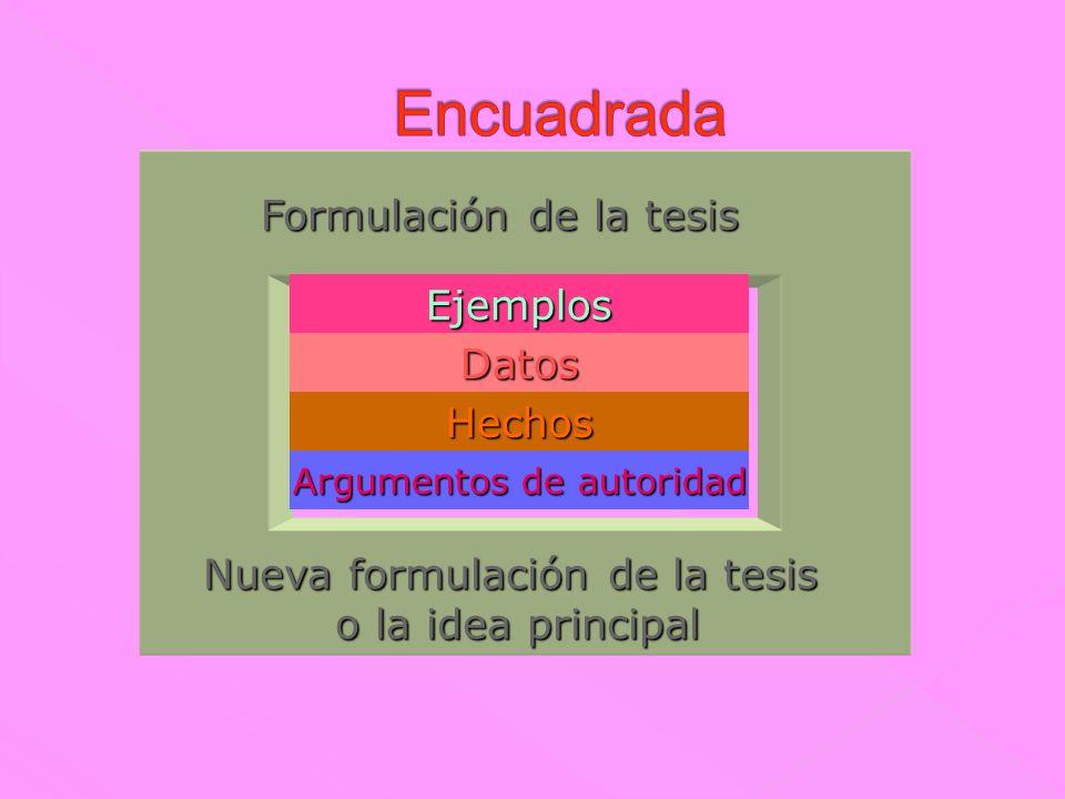 Idea principal Argumento 1 Argumento 2 Argumento 3