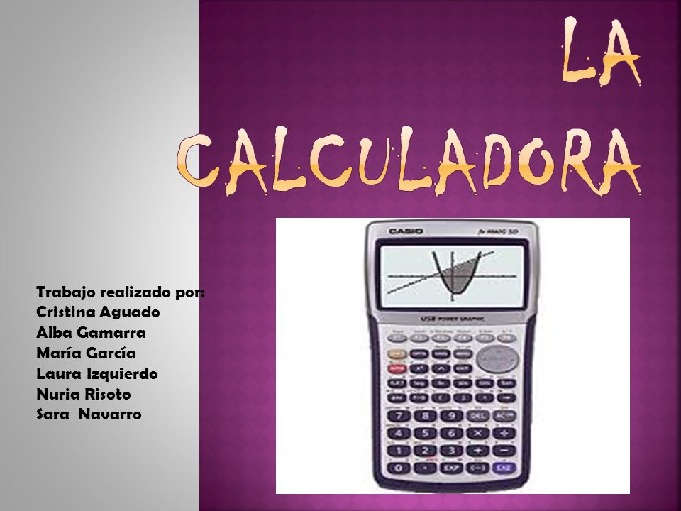 Dispositivo que se utiliza para realizar cálculos aritméticos.