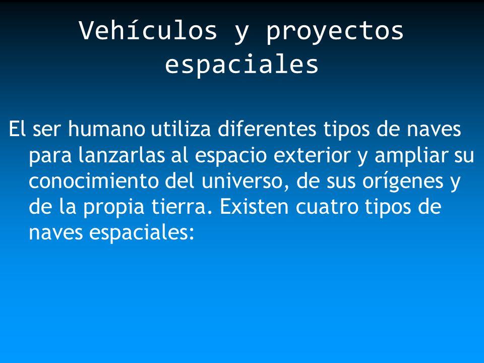 El ser humano utiliza diferentes tipos de naves para lanzarlas al espacio exterior y ampliar su conocimiento del universo, de sus orígenes y de la pro