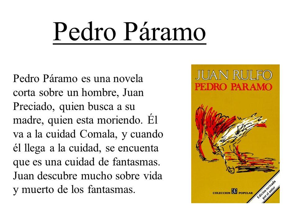 Pedro Páramo es una novela corta sobre un hombre, Juan Preciado, quien busca a su madre, quien esta moriendo. Él va a la cuidad Comala, y cuando él ll
