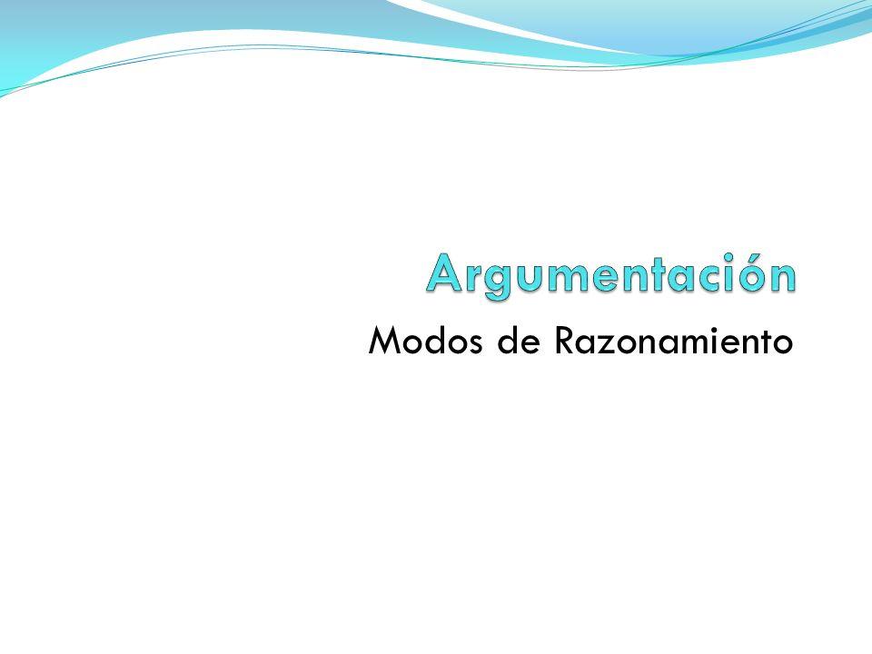 (3)Razonamiento por causa Es el caso en el que existe una vinculación de causalidad – consecuencia entre la tesis y la base.