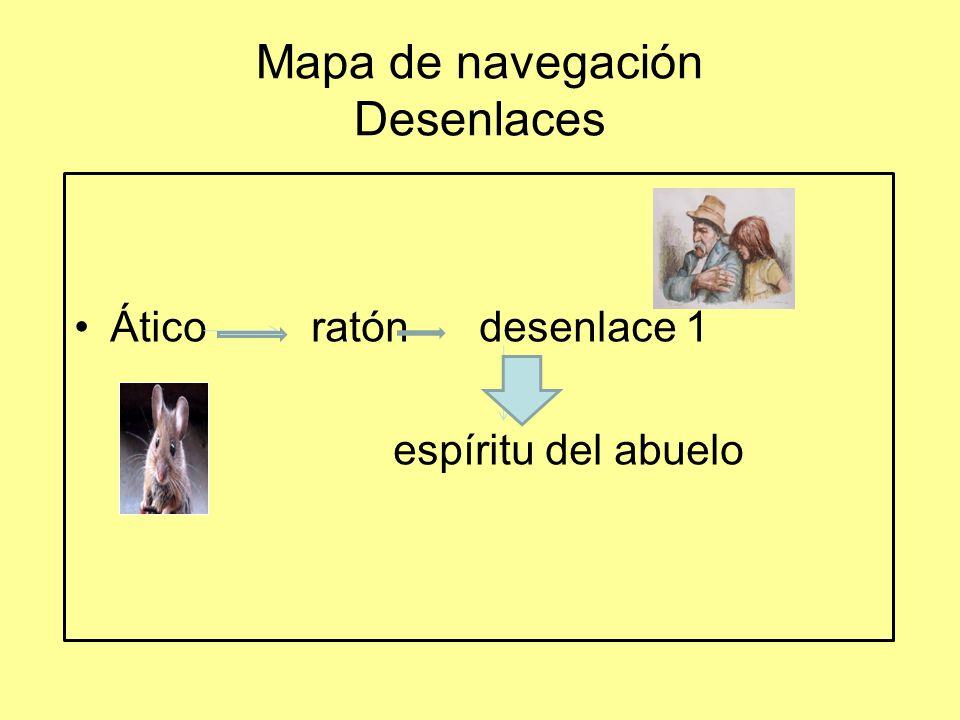 Mapa de navegación Desenlaces Ático ratón desenlace 1 espíritu del abuelo