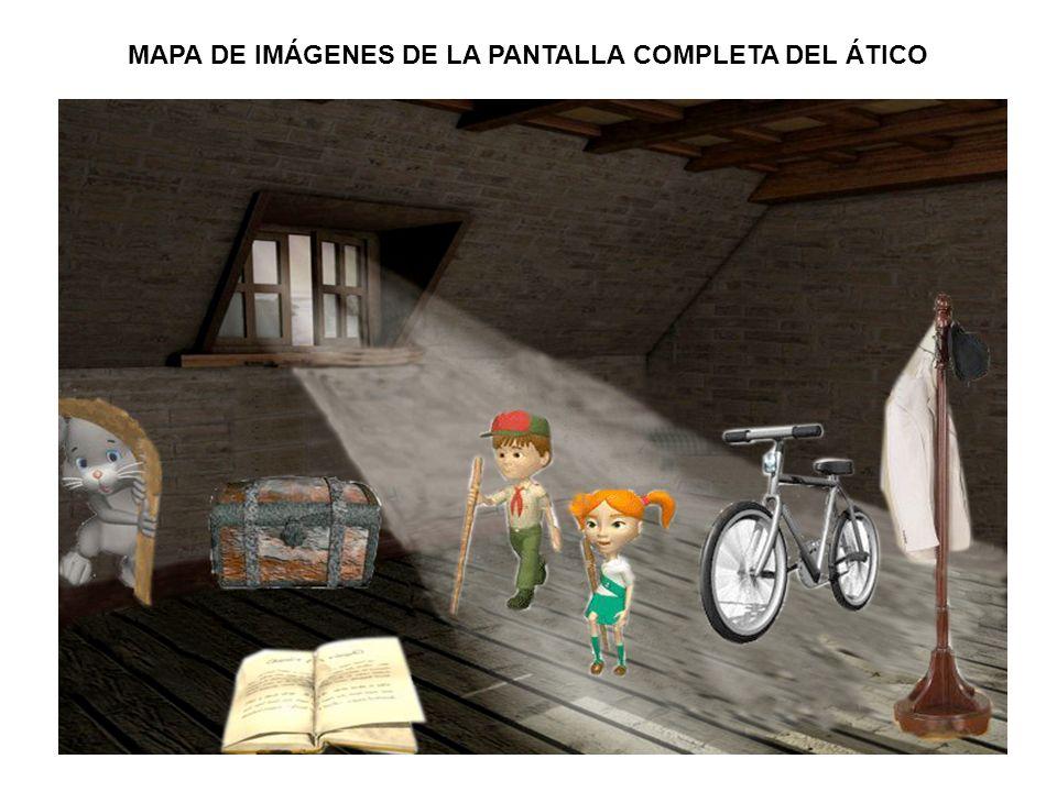 MAPA DE IMÁGENES DE LA PANTALLA COMPLETA DEL ÁTICO