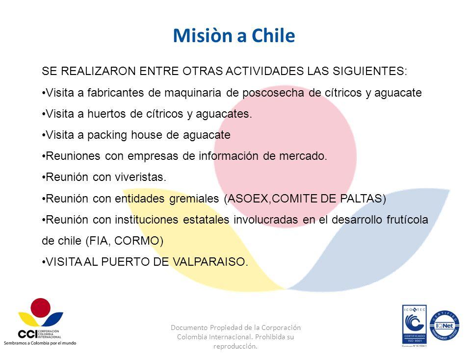 Documento Propiedad de la Corporación Colombia Internacional. Prohibida su reproducción. SE REALIZARON ENTRE OTRAS ACTIVIDADES LAS SIGUIENTES: Visita