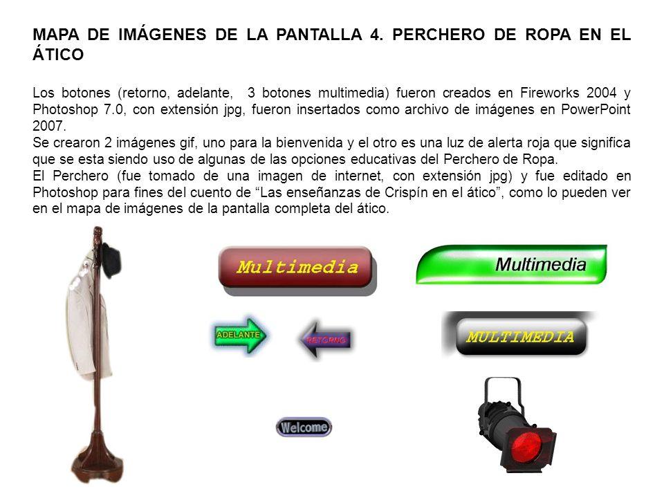 MAPA DE IMÁGENES DE LA PANTALLA 5.DICCIONARIO.