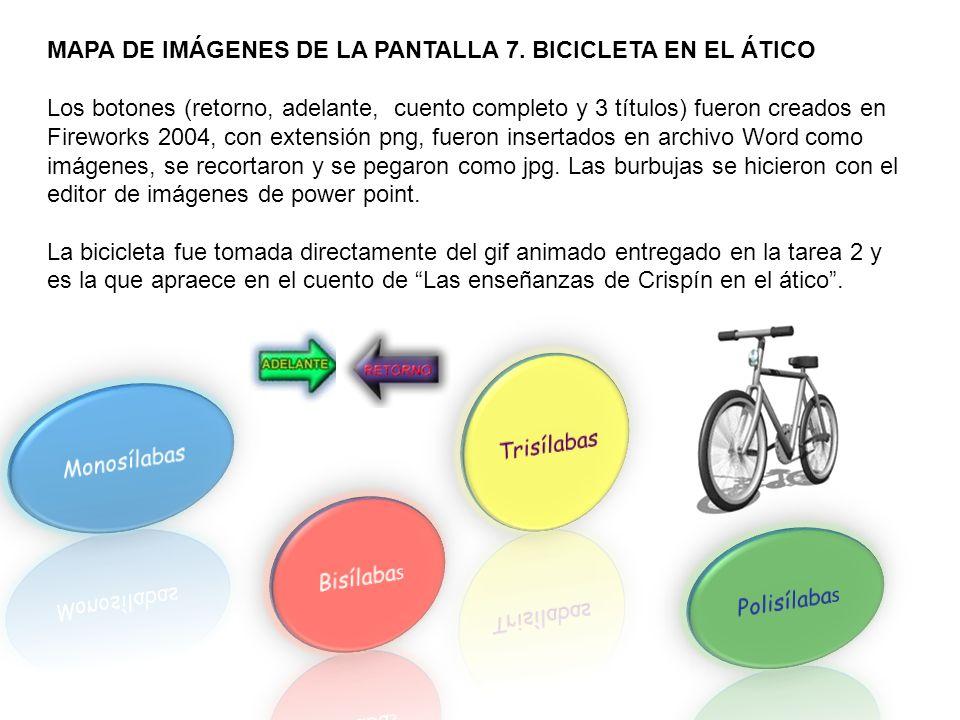 MAPA DE IMÁGENES DE LA PANTALLA 7.