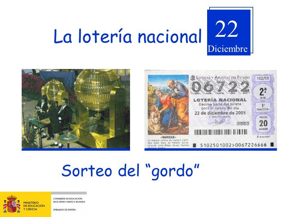 La lotería nacional Sorteo del gordo 22 Diciembre