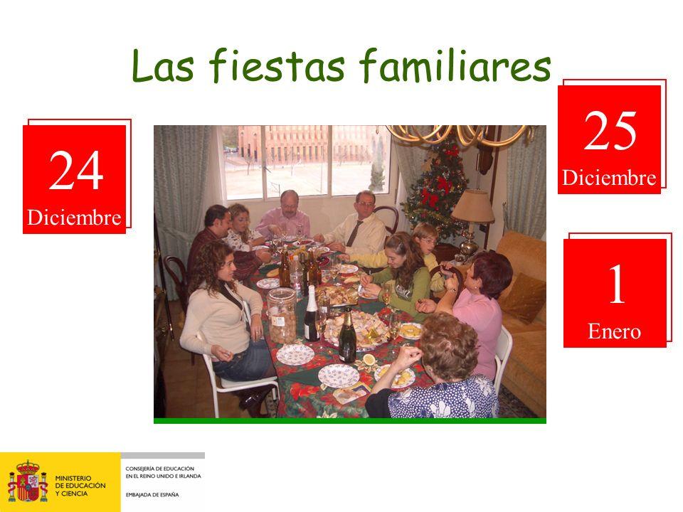 Las fiestas familiares 25 Diciembre 24 Diciembre 1 Enero