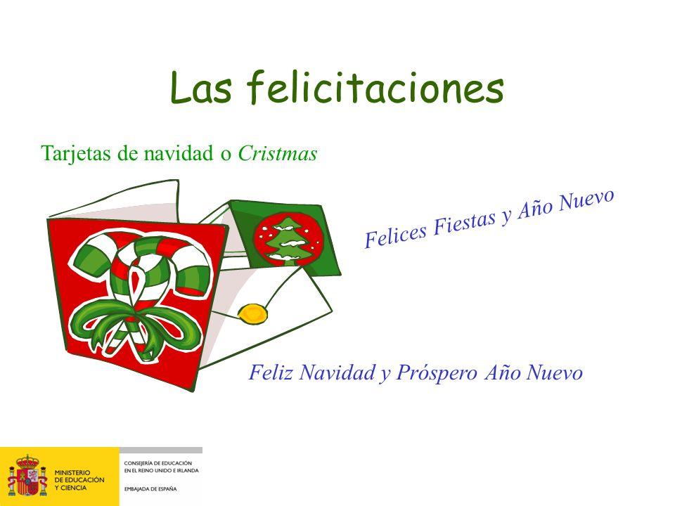 Las felicitaciones Tarjetas de navidad o Cristmas Felices Fiestas y Año Nuevo Feliz Navidad y Próspero Año Nuevo