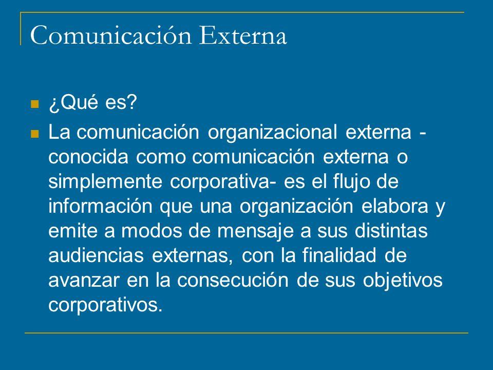Comunicación Externa ¿Qué es.