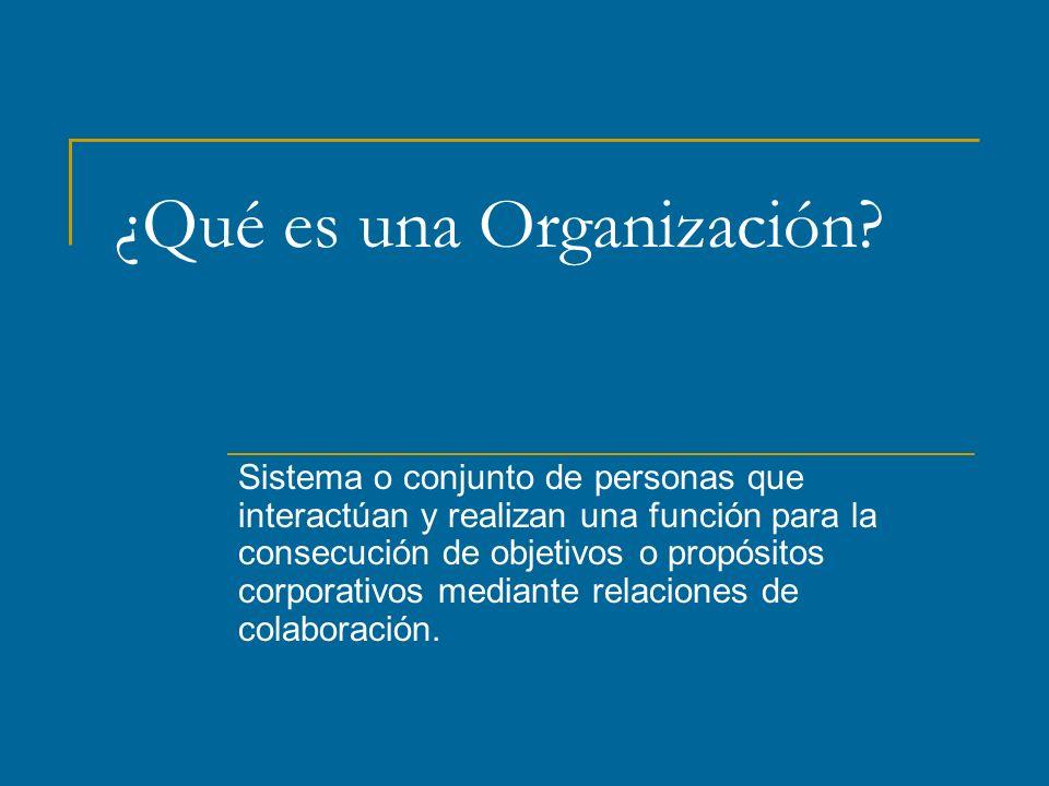 ¿Qué es una Organización.