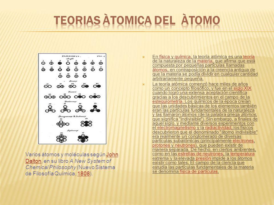 Átomo es la menor cantidad de un elemento químico que tiene existencia propia, y que no es posible dividir mediante procesos químicos. Es la menor por