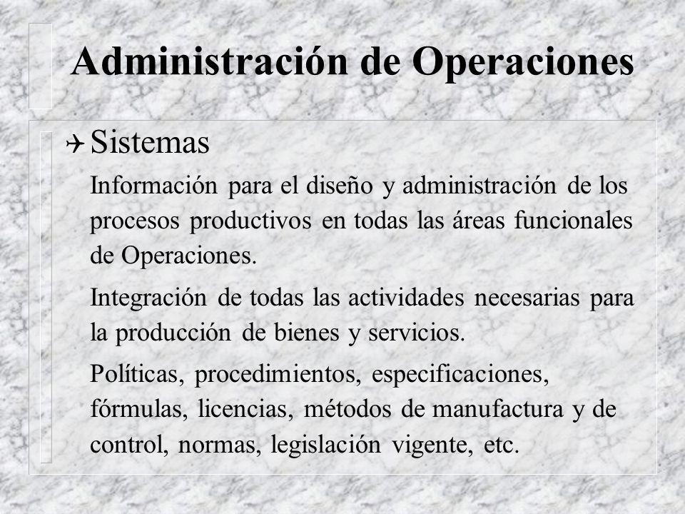 Administración de Operaciones Q Función Los ADO son responsables del manejo de aquellos departamentos, áreas, etc. (funciones) de la Organización que