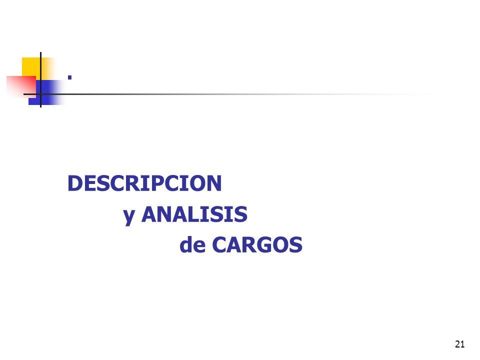 21. DESCRIPCION y ANALISIS de CARGOS