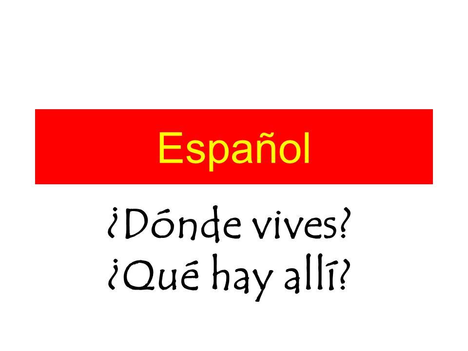 Español ¿Dónde vives? ¿Qué hay allí?