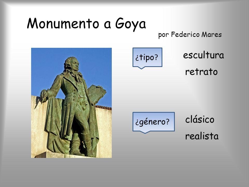 Monumento a Goya por Federico Mares ¿ tipo ? escultura retrato clásico ¿ género ? realista