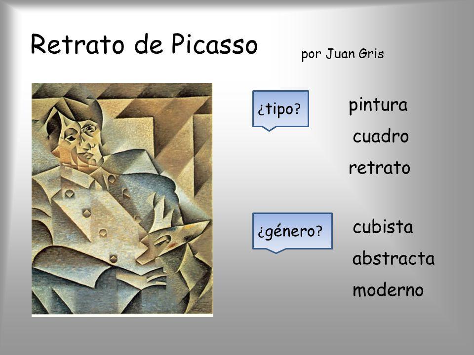 Retrato de Picasso ¿ tipo ? pintura cuadro retrato ¿ género ? por Juan Gris cubista abstracta moderno