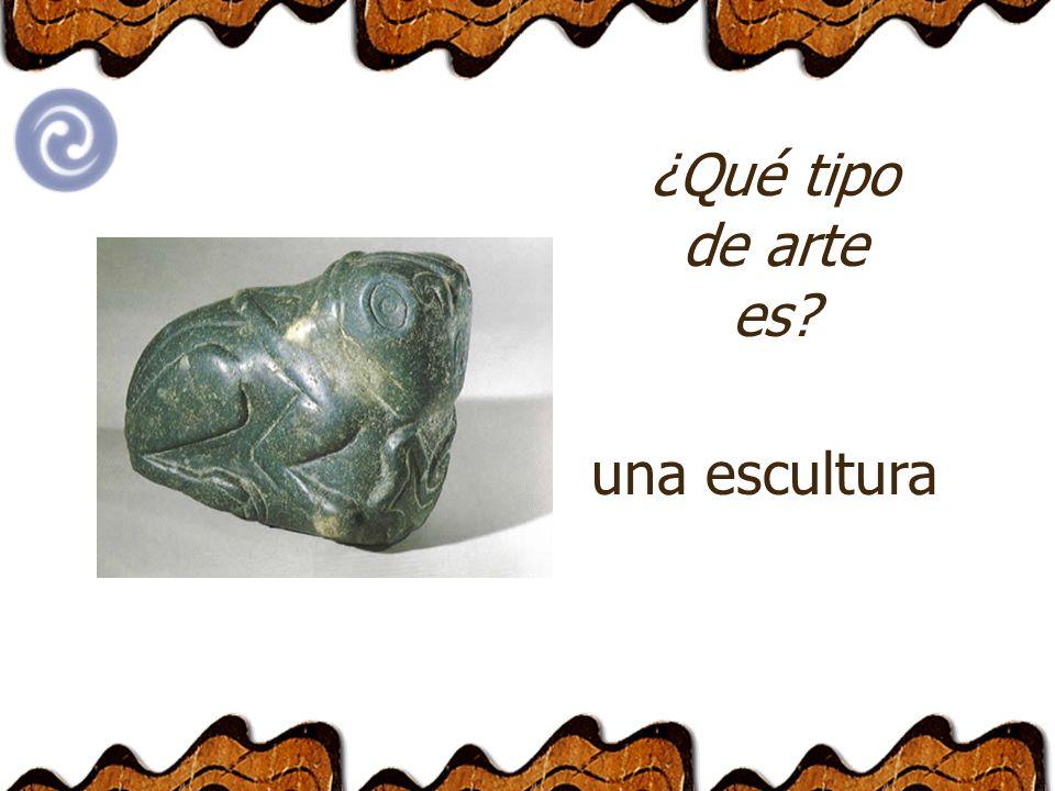 ¿Qué tipo de arte es? una escultura
