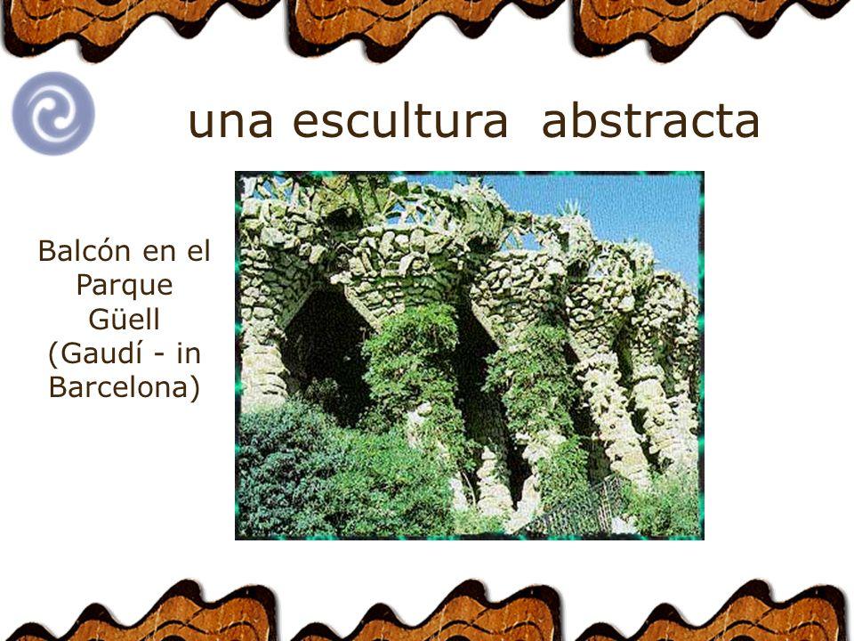 abstractauna escultura Balcón en el Parque Güell (Gaudí - in Barcelona)