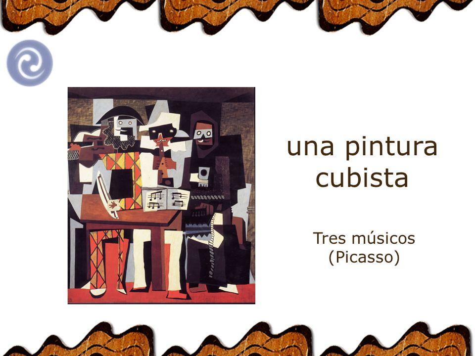 una pintura cubista Tres músicos (Picasso)