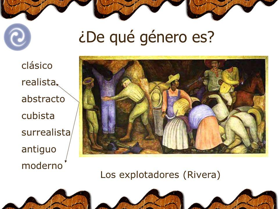 clásico realista abstracto cubista surrealista antiguo moderno ¿De qué género es.