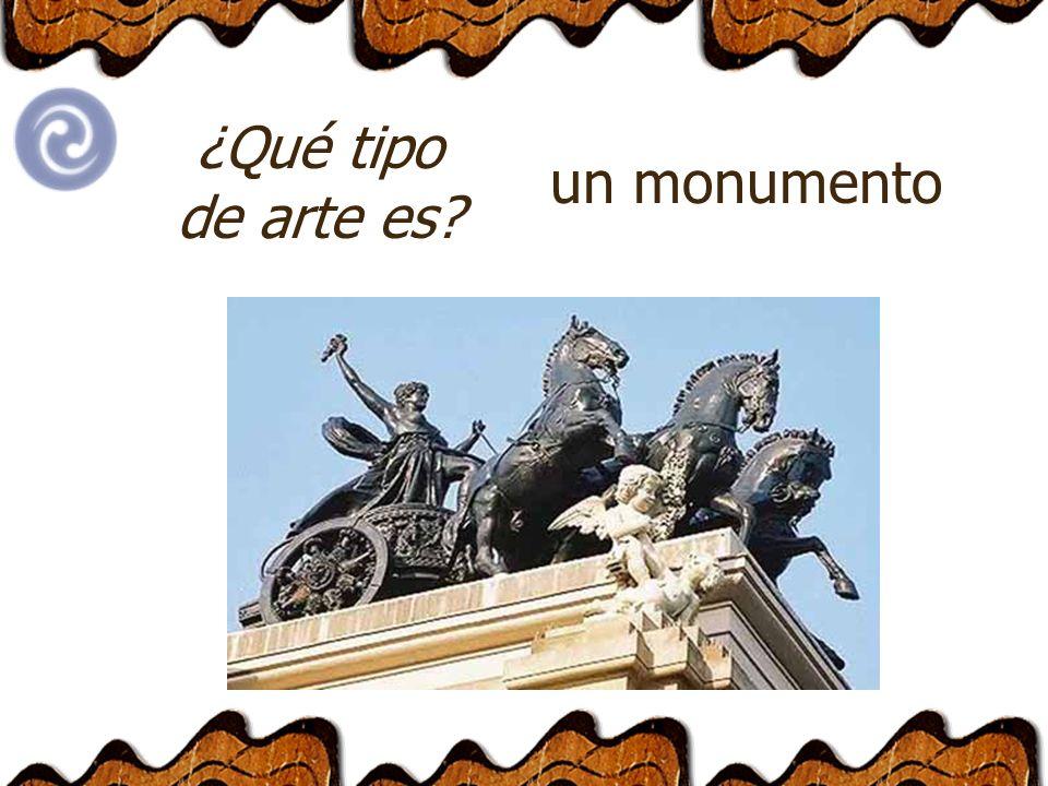 ¿Qué tipo de arte es un monumento