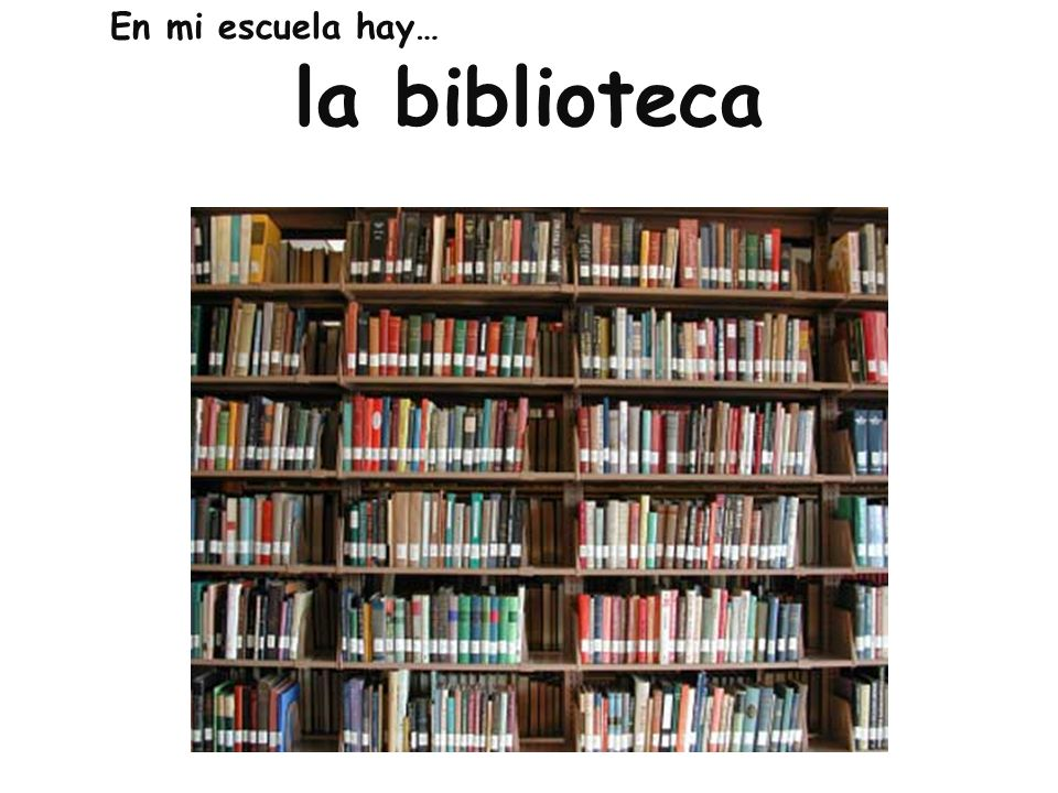 la biblioteca En mi escuela hay…