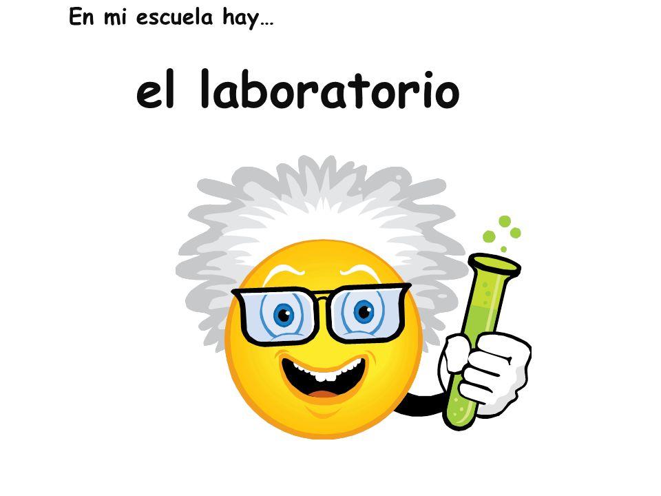 el laboratorio En mi escuela hay…