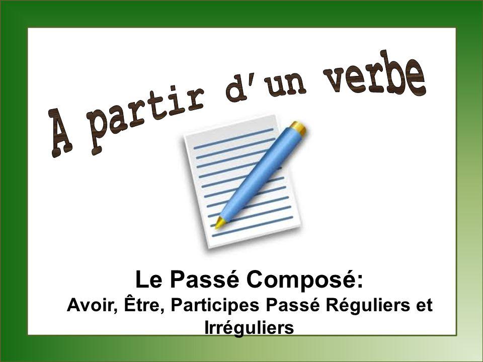 Le Passé Composé: Avoir, Être, Participes Passé Réguliers et Irréguliers