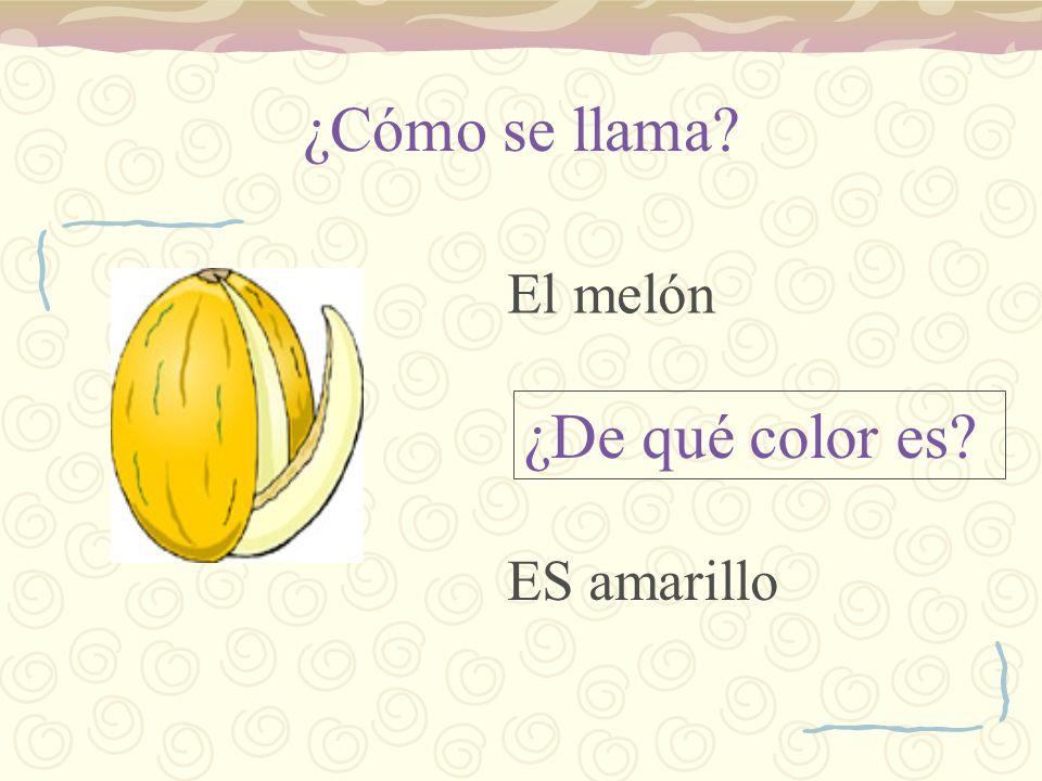 ¿Cómo se llama? ¿De qué color es? El melón ES amarillo